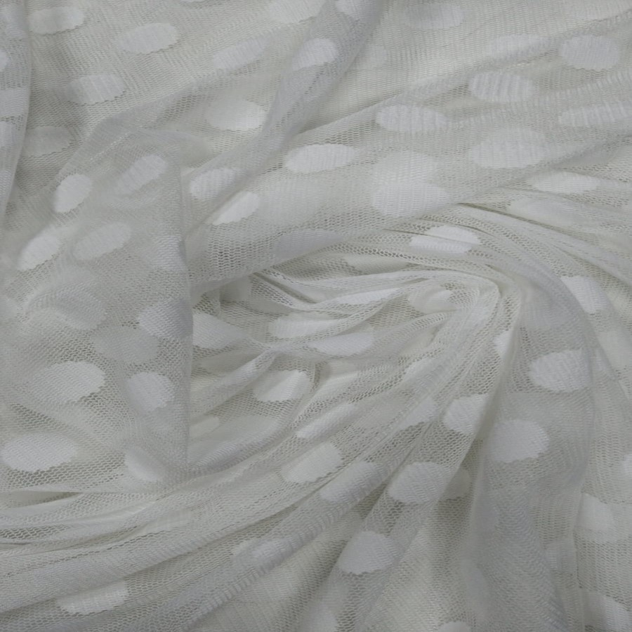 Tecido Tule Point Sprit Branco Grande
