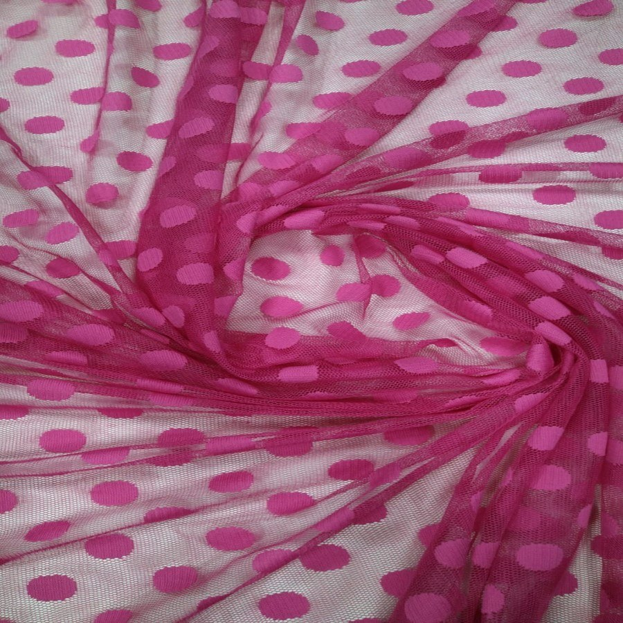 Tecido Tule Point Sprit Rosa Pink Grande