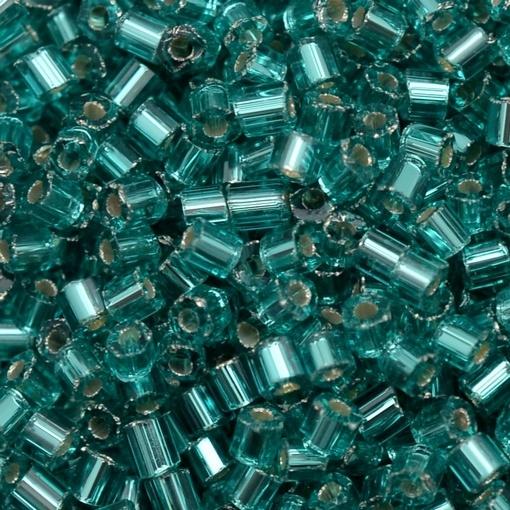 Vidrilho de Vidro Preciosa®Ornela/Jablonex Azul Brunei Transparente Espelhado Prata (67210) 2x9/0=2,6mm