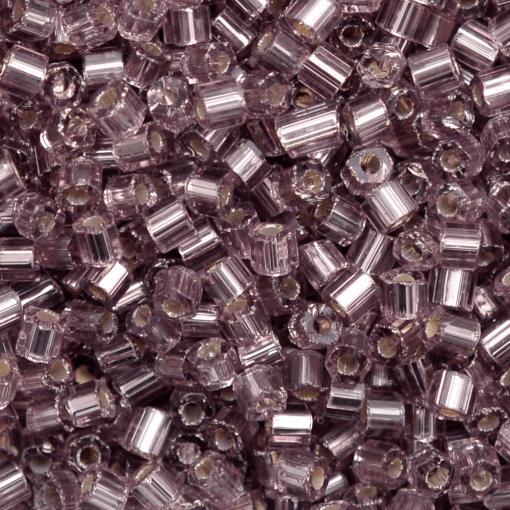 Vidrilho de Vidro Preciosa®Ornela/Jablonex Lilás Transparente Espelhado Prata (27010) 2x9/0=2,6mm