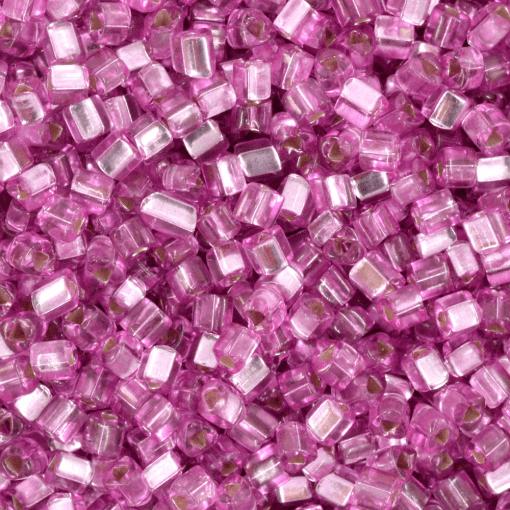 Vidrilho de Vidro Triangular Preciosa®Ornela/Jablonex Rosa Transparente Espelhado Prata (08225) 2,5mm