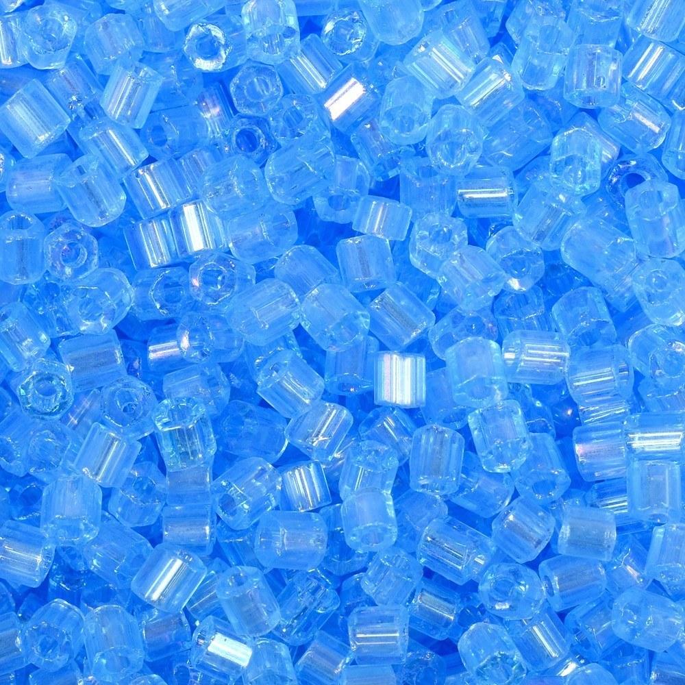 Vidrilho Preciosa® Ornela Água Transparente T Aurora Boreal (61011) 2x9/0=2,6mm 100 gr