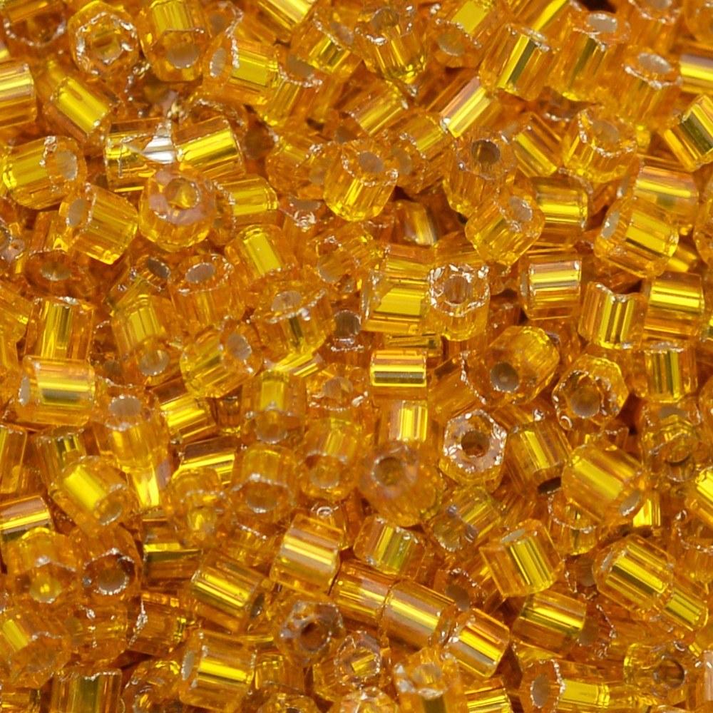 Vidrilho Preciosa® Ornela Amarelo Escuro Transparente (87060) 2x9/0=2,6mm 100 gr