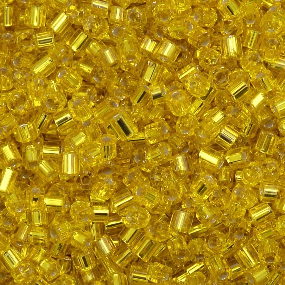 Vidrilho Preciosa® Ornela Amarelo Transparente (87010) 2x9/0=2,6mm 100 gr