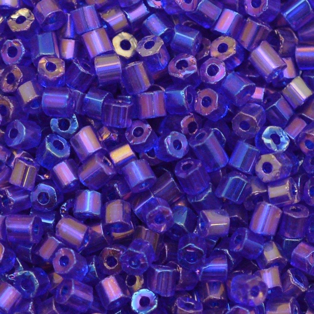 Vidrilho Preciosa® Ornela Azul Transparente T Aurora Boreal (31080) 2x9/0=2,6mm 100 gr