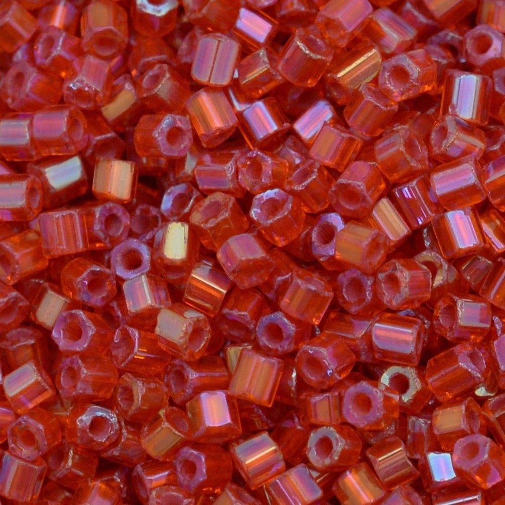 Vidrilho Preciosa® Ornela Laranja e Coral Lined Colorido Aurora Boreal (94039) 2x9/0=2,6mm 100 gr