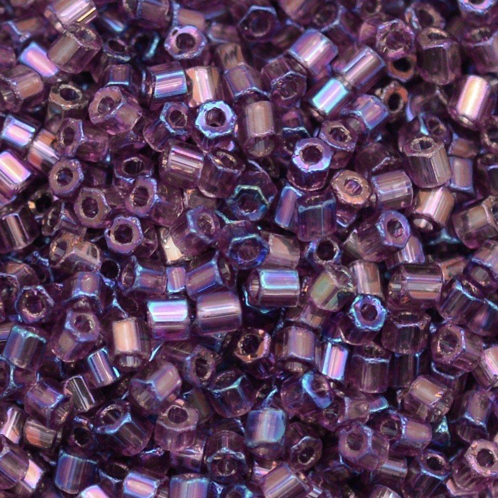 Vidrilho Preciosa® Ornela Lilás Transparente T Aurora Boreal (21060) 2x9/0=2,6mm 100 gr