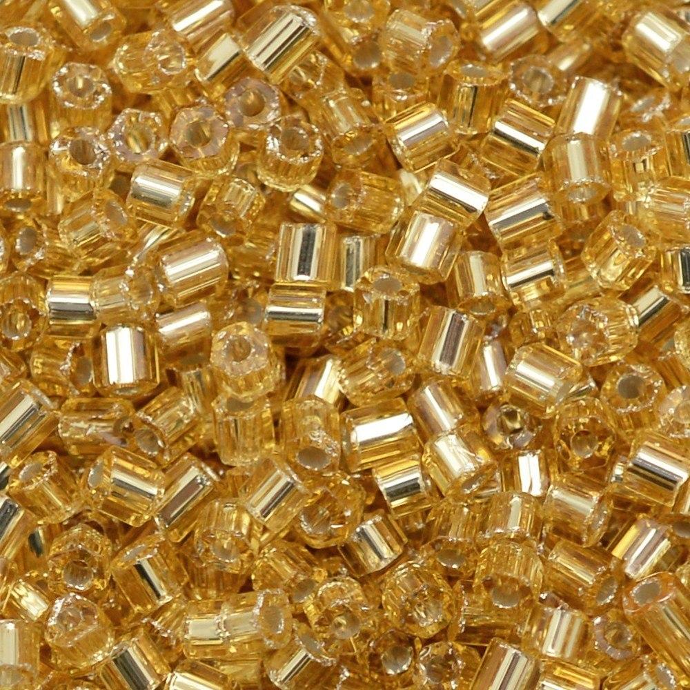 Vidrilho Preciosa® Ornela Ouro Novo Transparente (17020) 2x9/0=2,6mm 100 gr