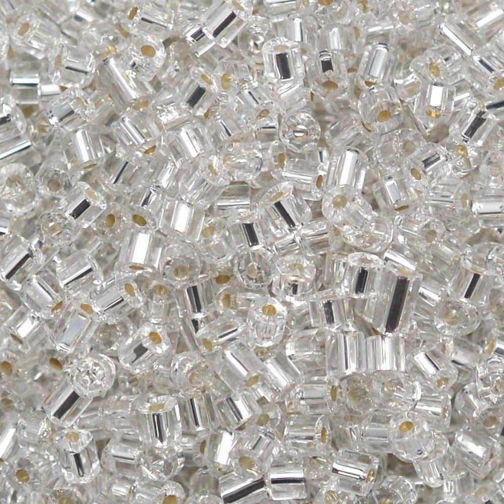 Vidrilho Preciosa® Ornela Prata Transparente (78102) 2x10/0=2,3mm 100 gr