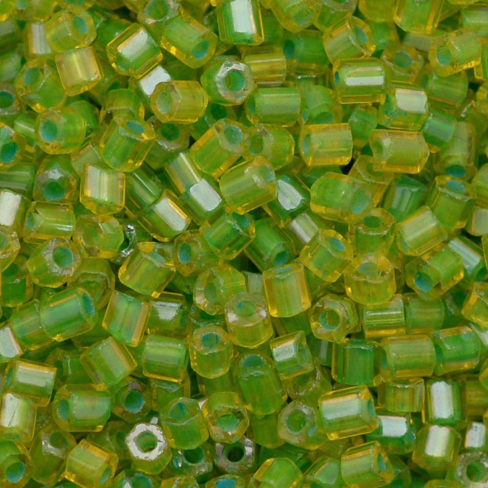 Vidrilho Preciosa® Ornela Topaz e Verde Lined Colorido (81012) 2x9/0=2,6mm 100 gr