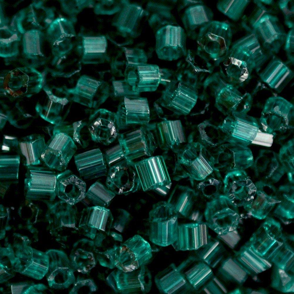 Vidrilho Preciosa® Ornela Verde Emerald Transparente T (50710) 2x9/0=2,6mm 100 gr