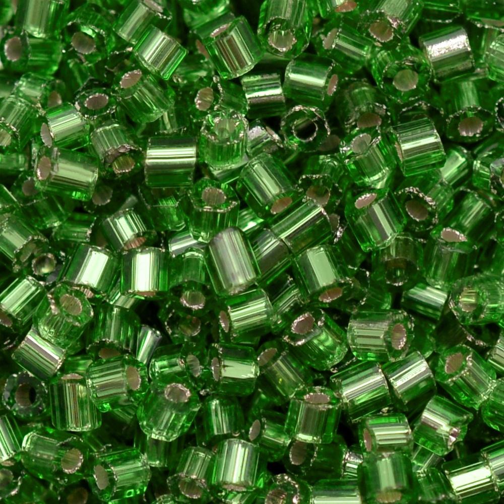 Vidrilho Preciosa® Ornela Verde Transparente (57100) 2x9/0=2,6mm 100 gr