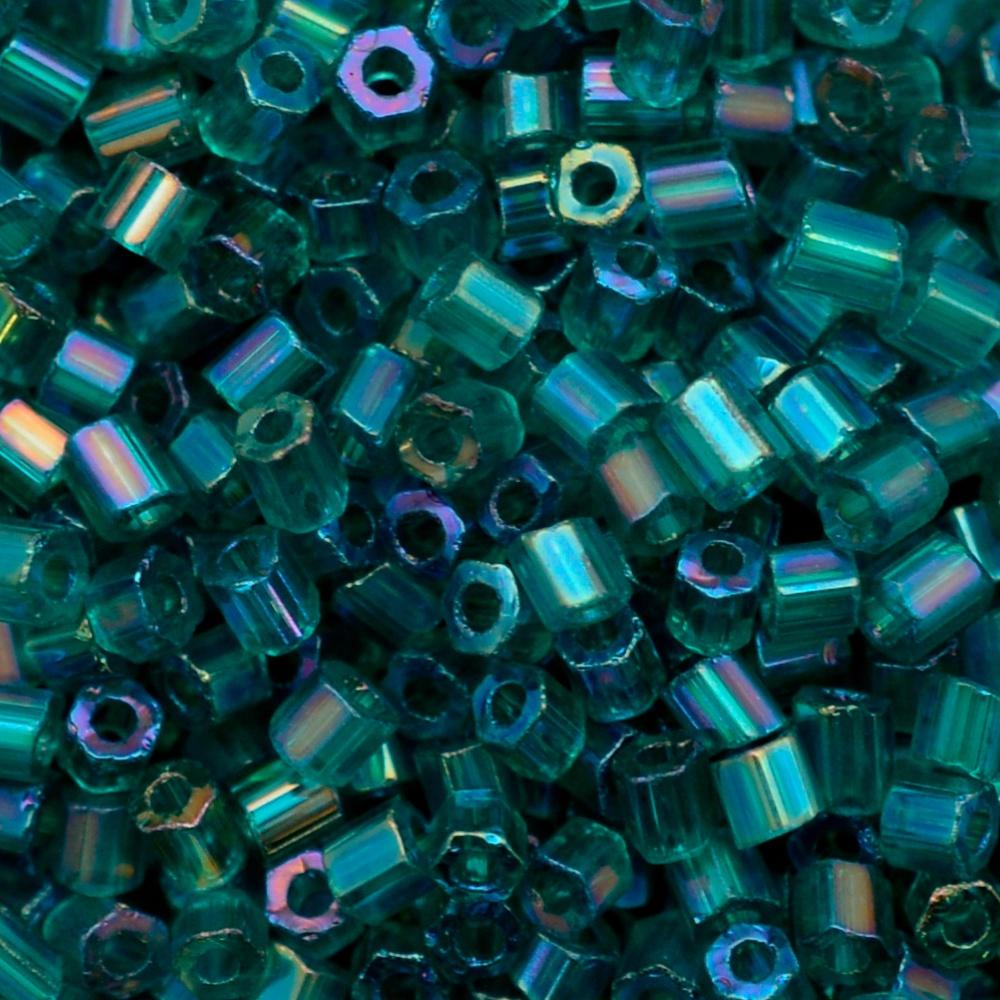 Vidrilho Preciosa® Ornela Verde Transparente T Aurora Boreal (51710) 2x9/0=2,6mm 100 gr