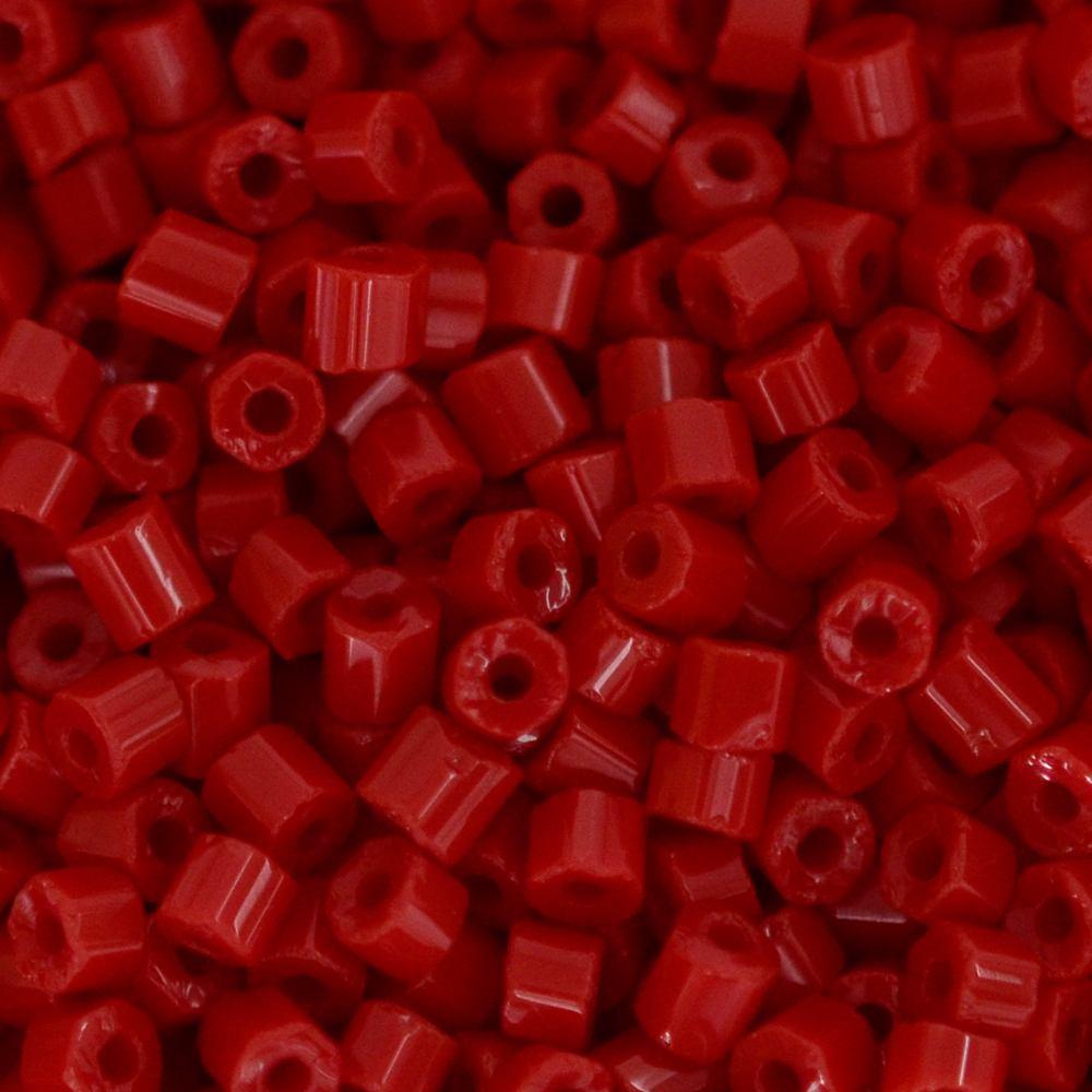 Vidrilho Preciosa® Ornela Vermelho Fosco (93190) 2x9/0=2,6mm 100 gr