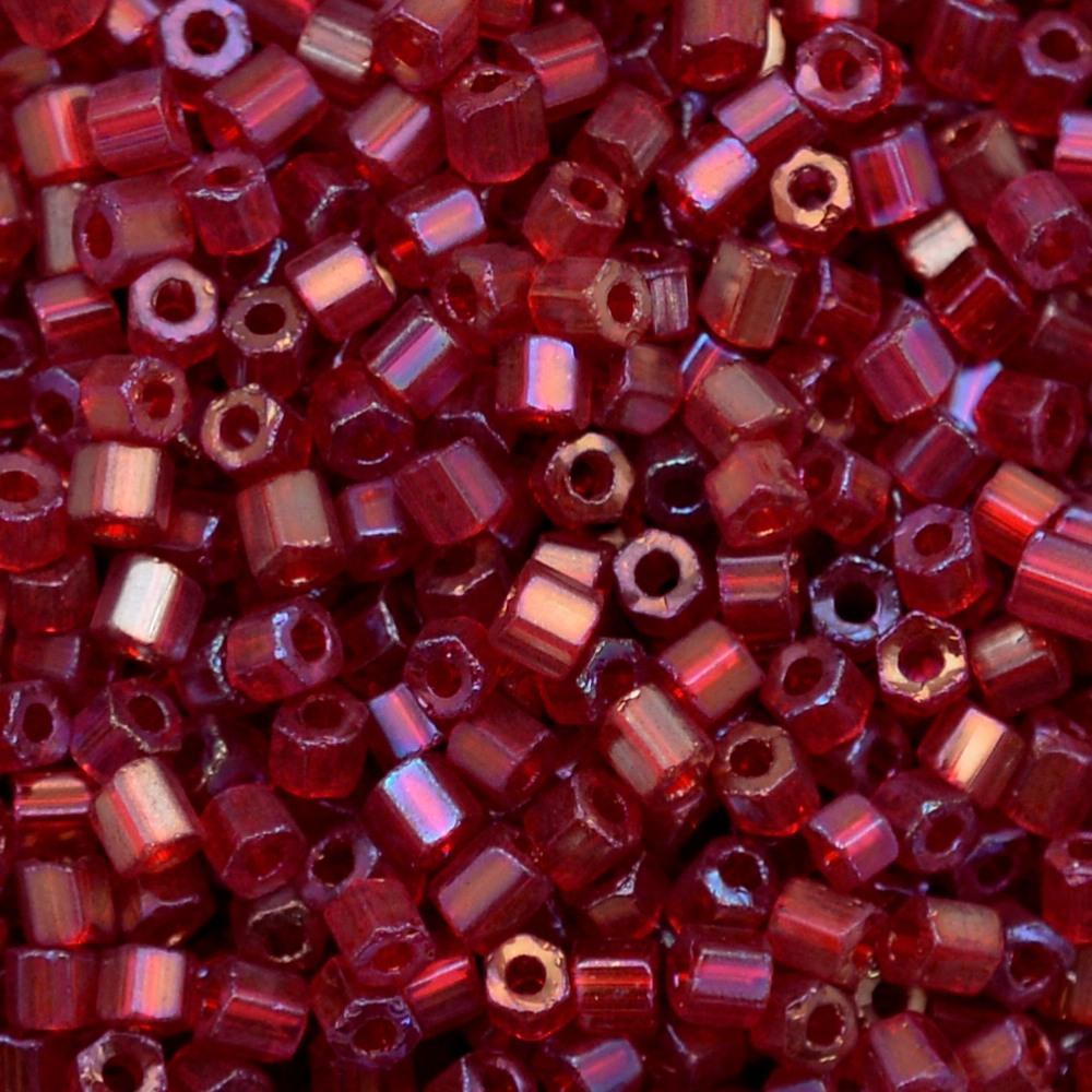 Vidrilho Preciosa® Ornela Vermelho Transparente T Aurora Boreal (91090) 2x9/0=2,6mm 100 gr