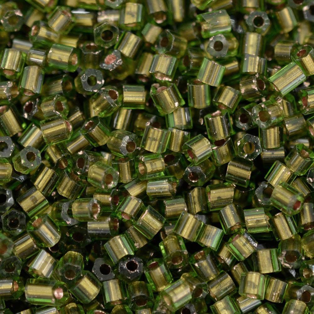 Vidrilhos Jablonex Bronze Verde Lined Color 59430 2x9/0=2,6mm
