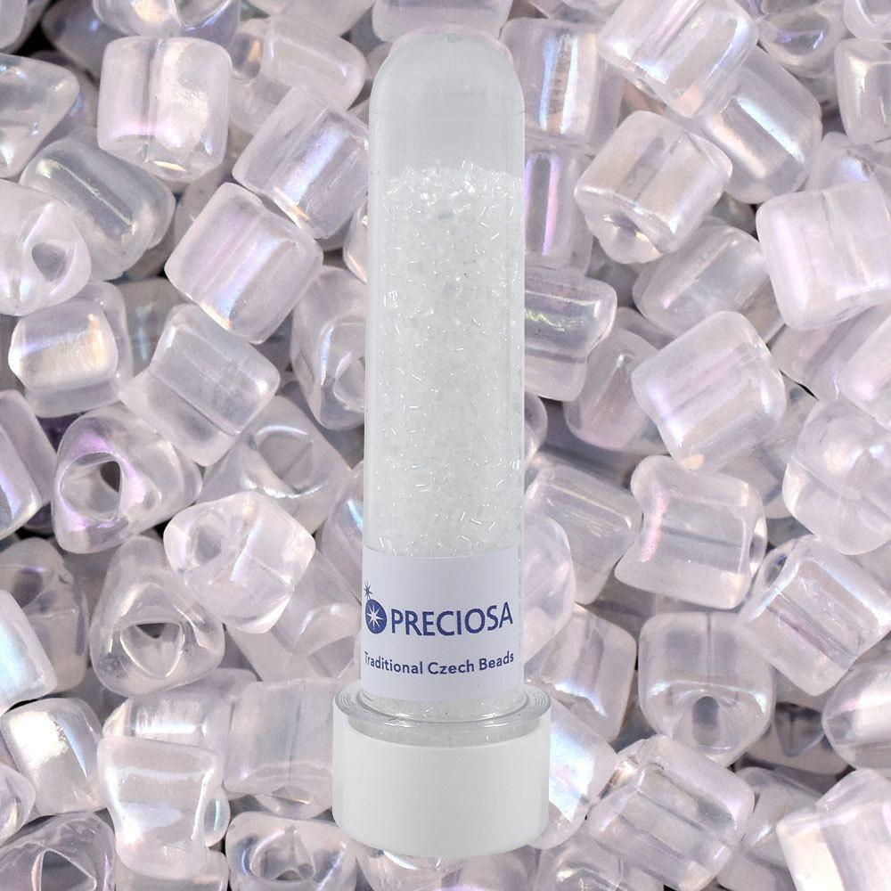 Vidrilhos Jablonex Triangular Cristal Transparente T Opaline White Opal 2,5mm