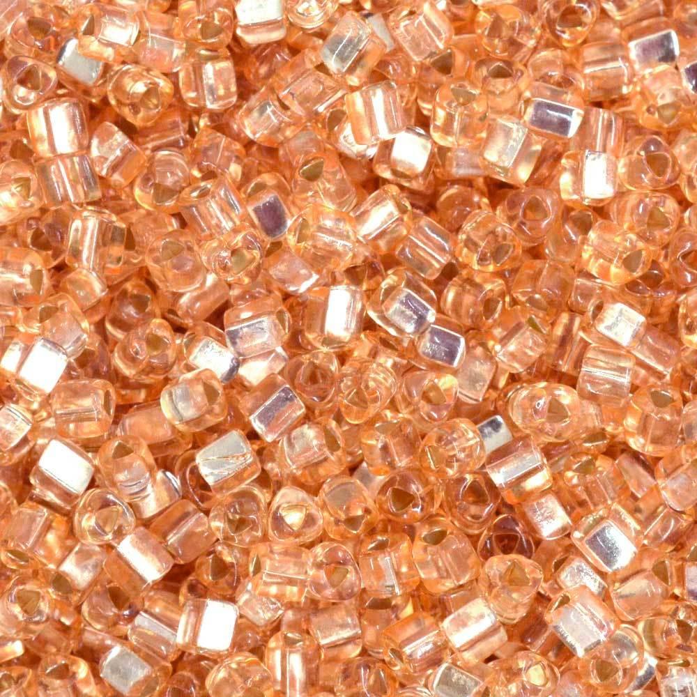 Vidrilhos Jablonex Triangular Nude Salmão Transparente 08288 2,5mm