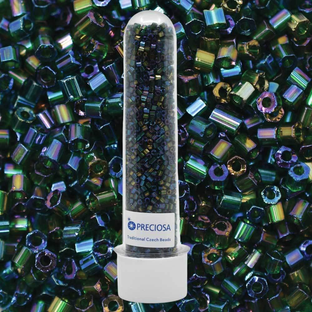 Vidrilhos Jablonex Verde Transparente T Aurora Boreal 51620 2x9/0=2,6mm