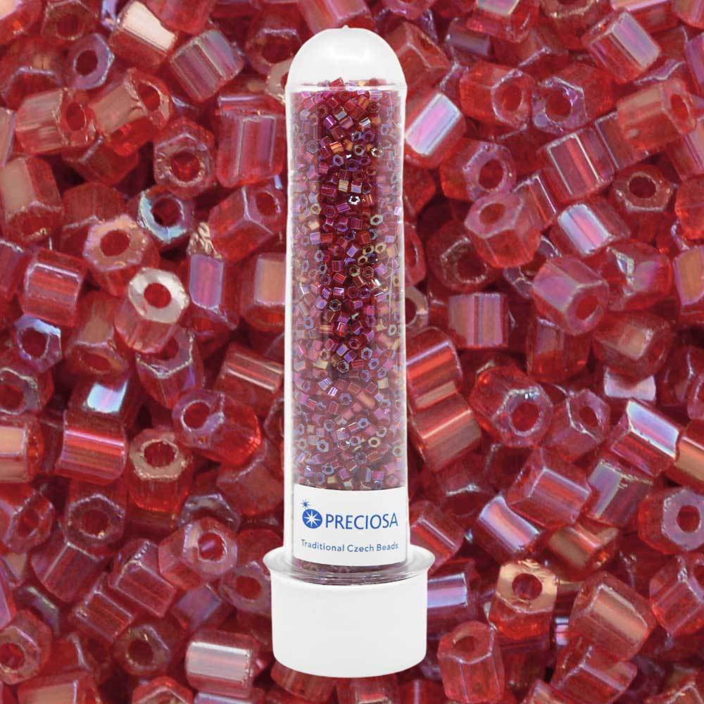 Vidrilhos Jablonex Vermelho Transparente T Aurora Boreal 91070 2x9/0=2,6mm