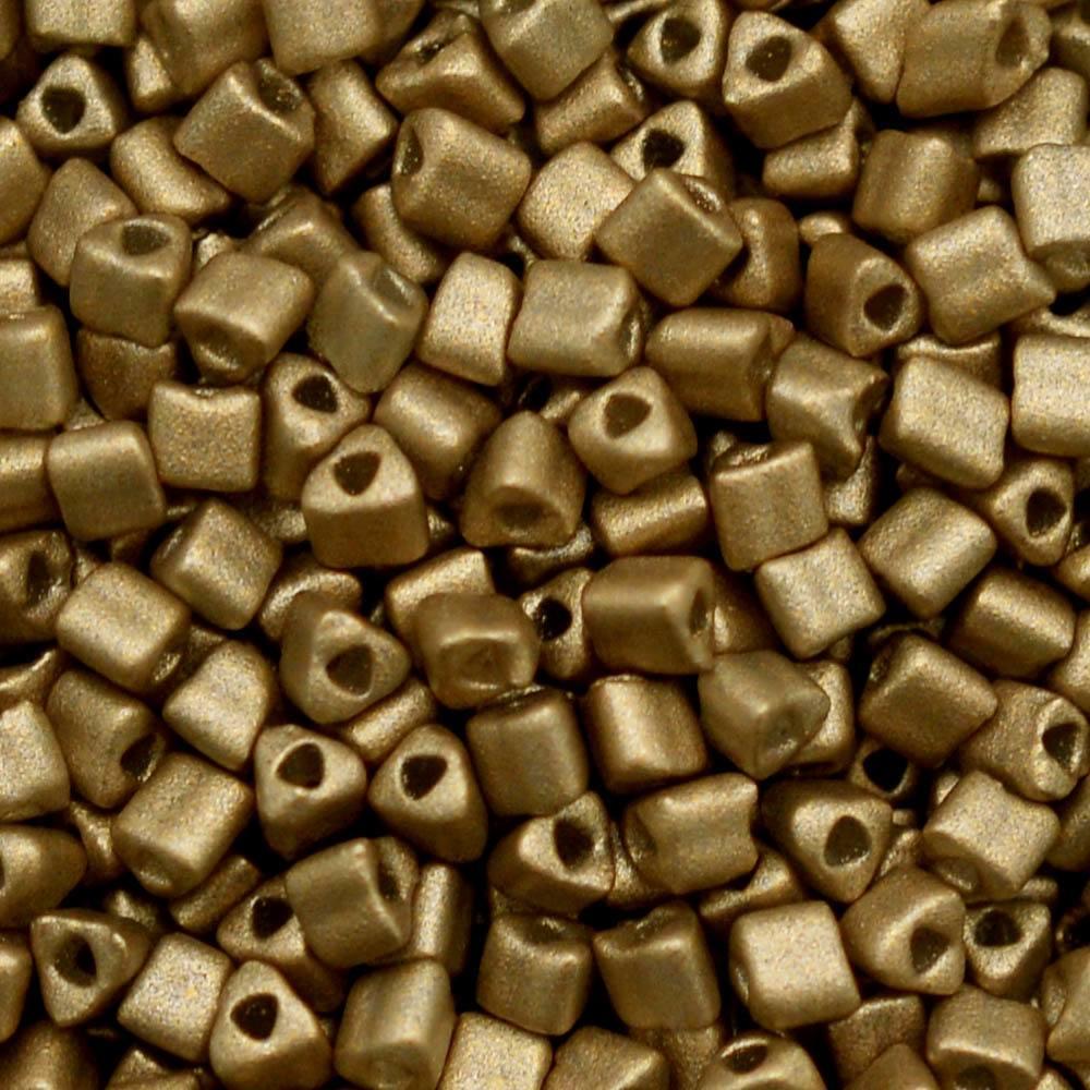 Vidrilhos Triangular Color by Dourado Perolado 01790L 2,5mm