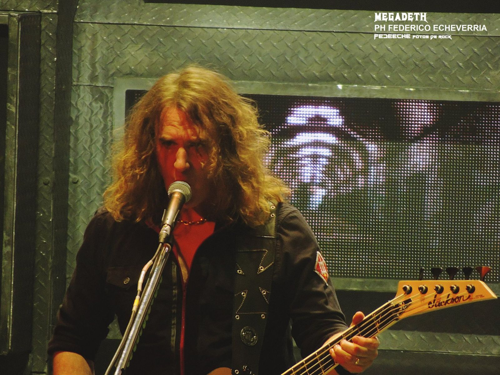 DAVID ELLEFSON - MEGADETH - ESTADIO LUNA PARK - CORREAS LA MANTA MOD. AVALON