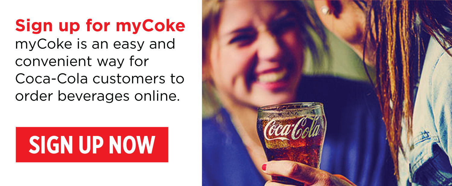 Sign up for myCoke - Click here