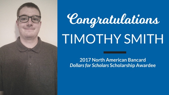 Congratulations to our NAB Scholarship Winner, Timothy Smith!