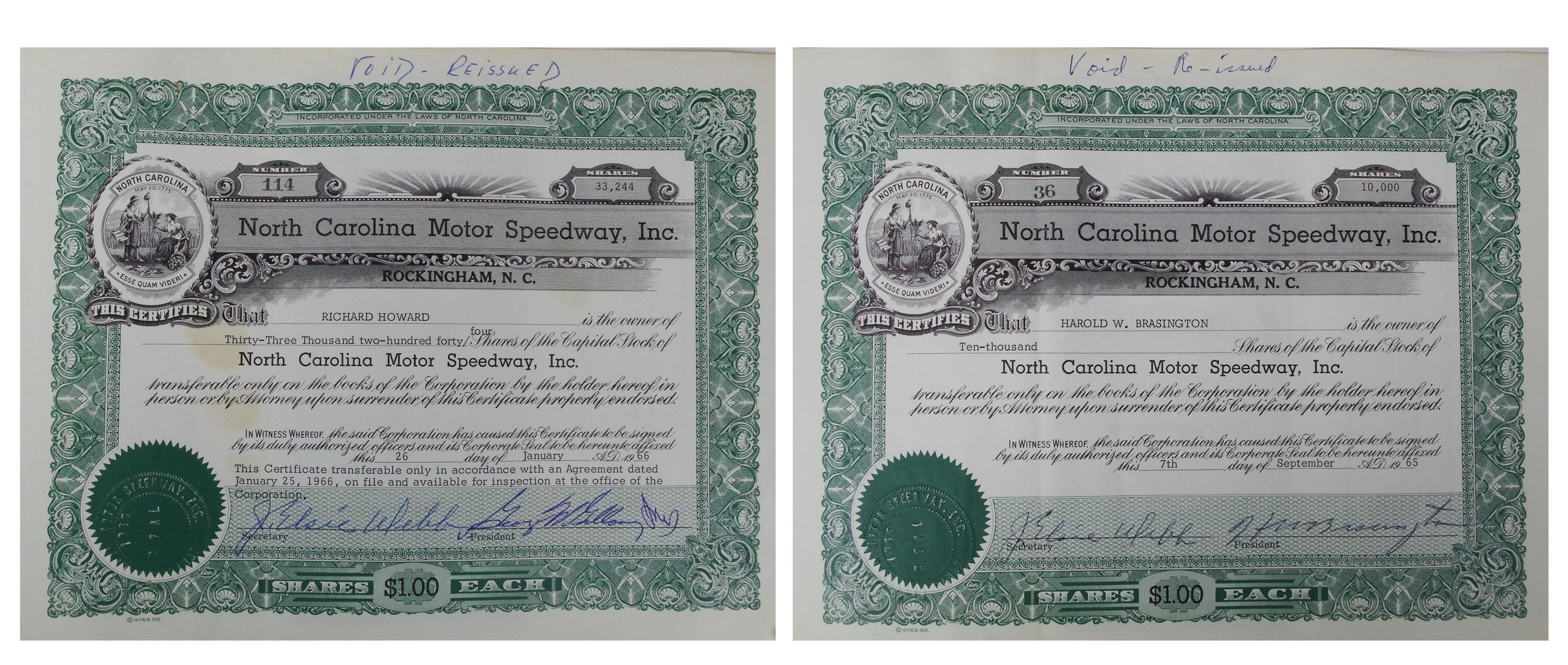 Artifact: Investing in NASCAR and North Carolina