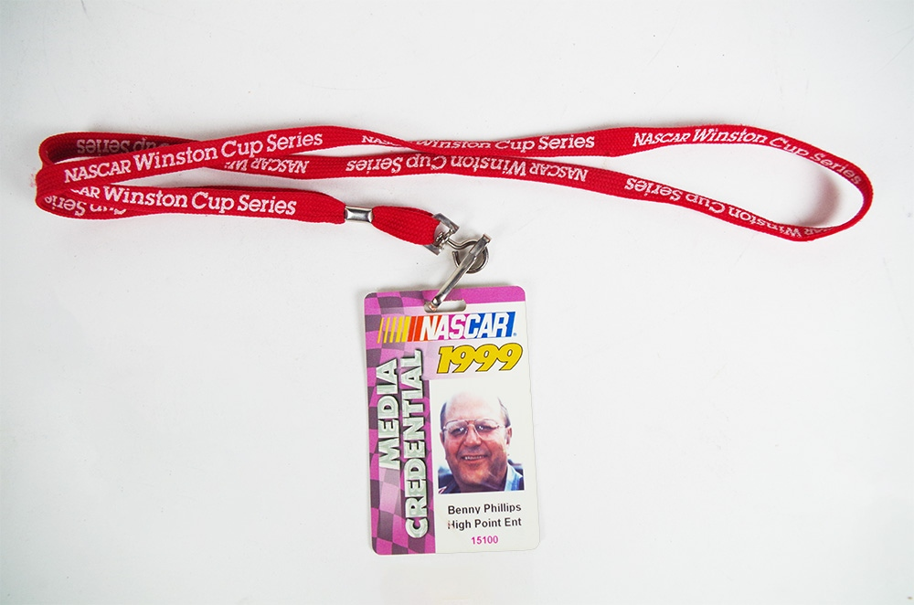 Recent Donation: NASCAR Credential
