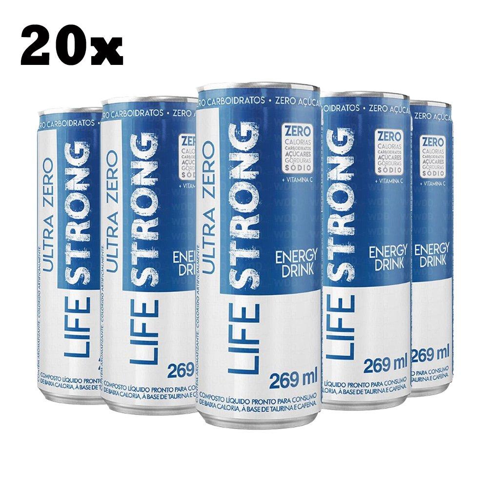 20x Energético Life Strong Energy Drink 269ml Tradicional - Zero Tudo