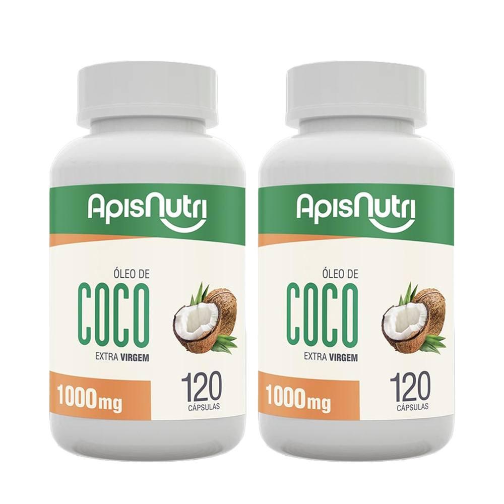 2x Óleo De Coco Extra Virgem 120 Caps 1000 Mg - Aspinutri