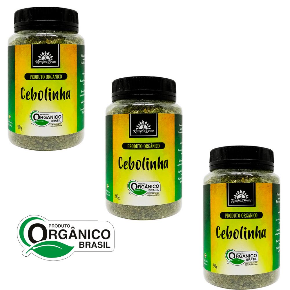 3 Cebolinhas PURA desidratada Potão de 90 g Orgânica e Cert.