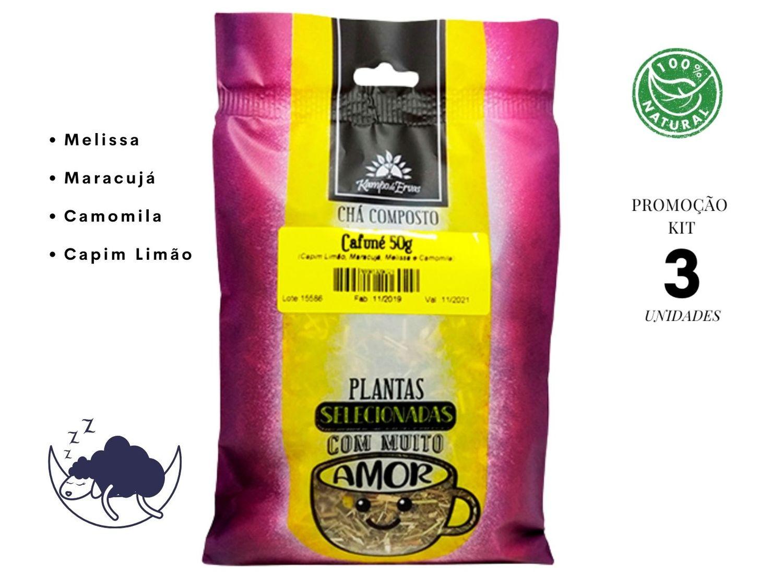 Cafuné Chá Relax Melissa Camomila Maracujá Capim Limão 150g