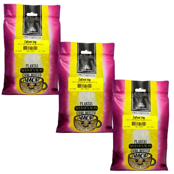 3 Chá Cafuné 100 % ervas naturais para você relaxar 50 g