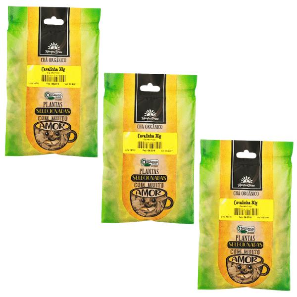 3 Chá de Cavalinha PURA 100% Folhas 30 g - Orgânica e Cert.