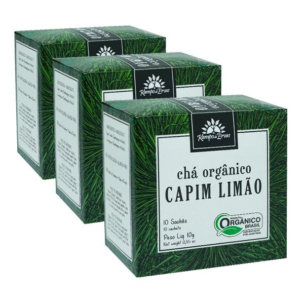 Capim Limão Orgânico Chá Certific 30 sachês Kampo de Ervas