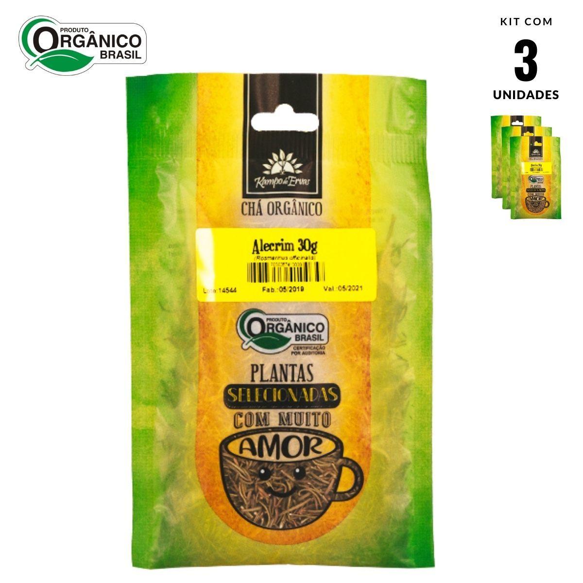 Alecrim Orgânico 100 % Folhas Kampo de Ervas 3 und 30g cada