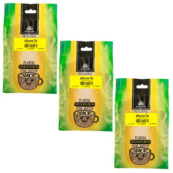3 Chás de Alfazema PURA 100 % Flores 25 g