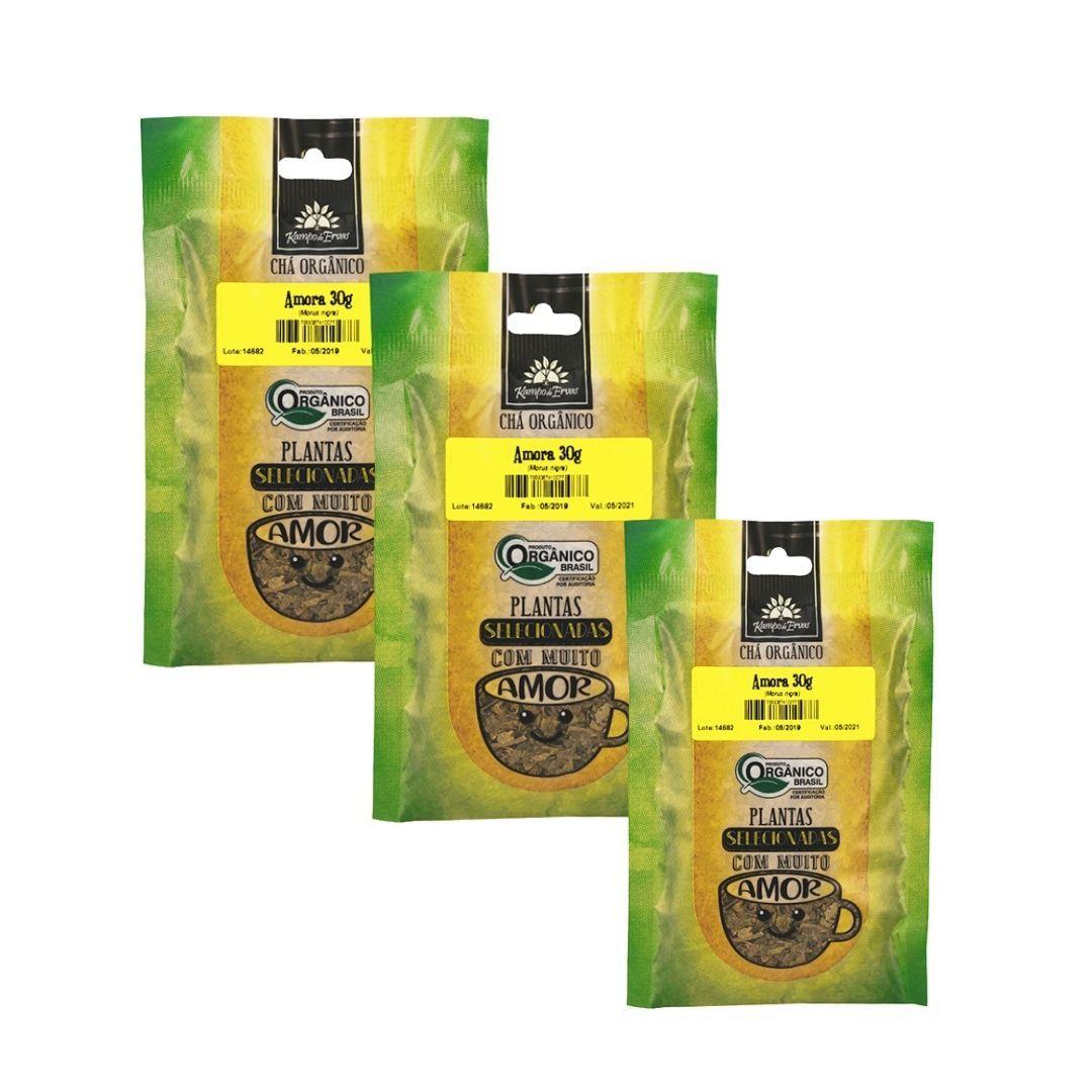 Amora Orgânica Chá 100% Folhas 3 und 30g cada Kampo de Ervas