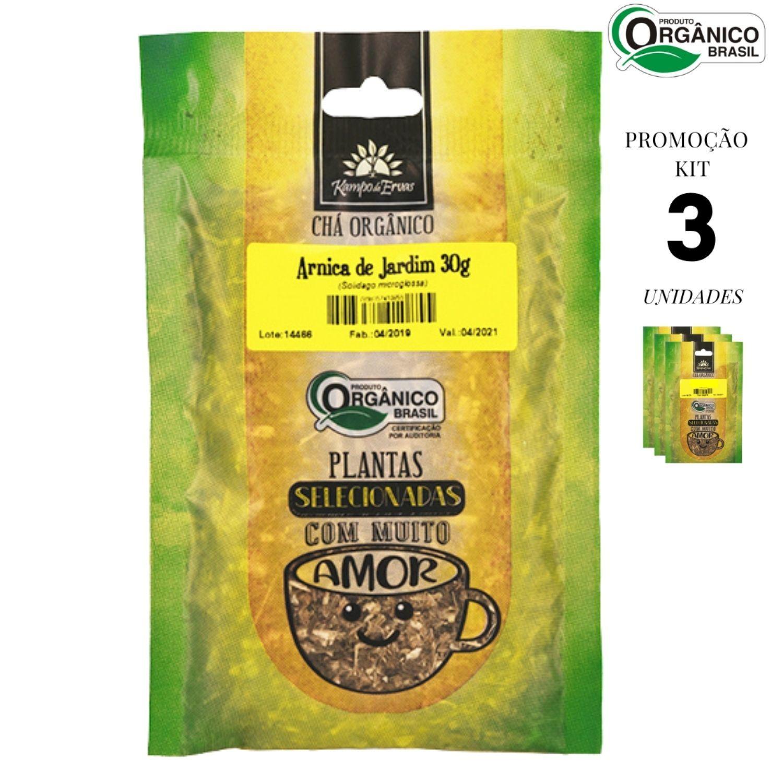 Arnica de Jardim Chá Orgânico Kampo de Ervas 3 und 30g cada