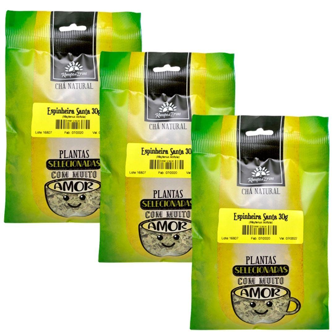 Espinheira Santa Chá 100% Natural só Folhas 3 und 30g cada