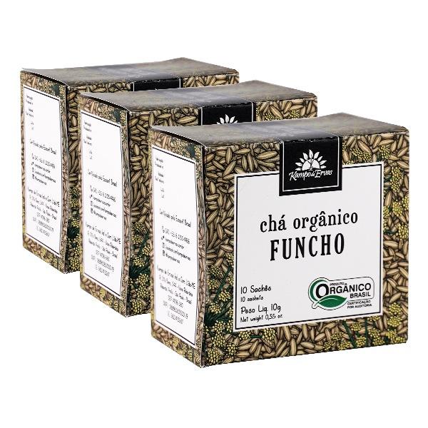 Funcho Chá Orgânico Certificado Kampo de Ervas 30 sachês