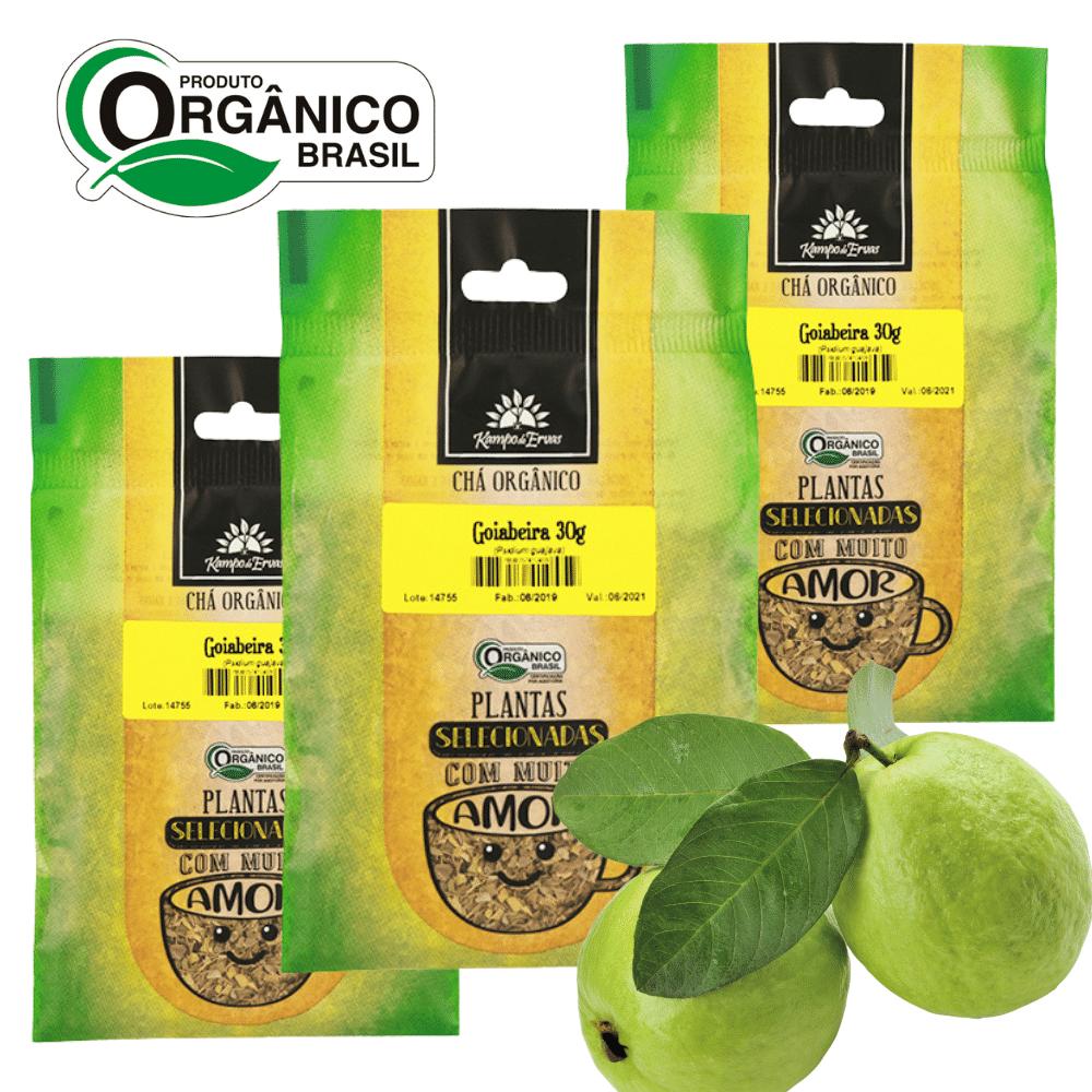 Goiaba Chá da Folha Orgânica 3 und - 30g cada Kampo de Ervas