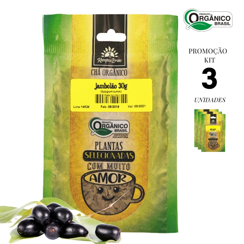 Jambolão Chá Orgânico só Folhas Kampo de Ervas 3und 30g cada