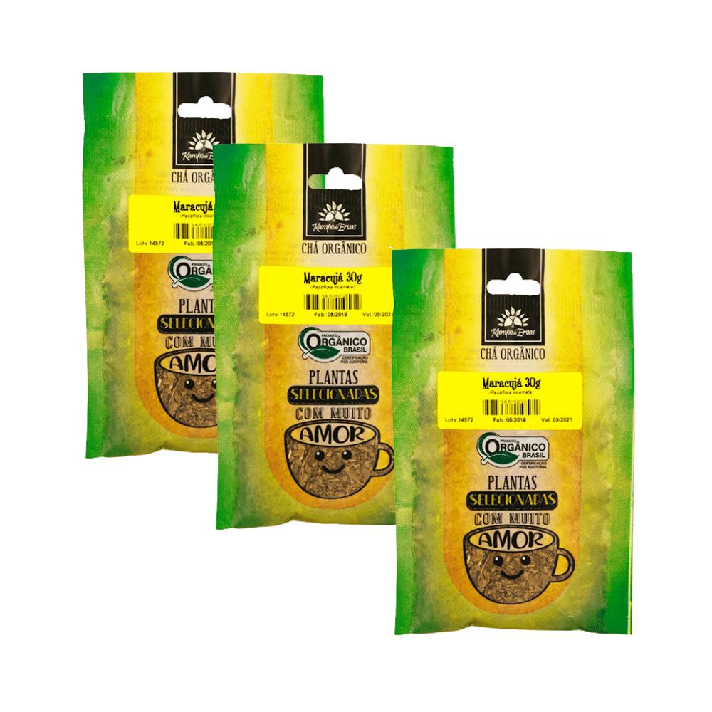 Maracujá Chá PURO 3 und 100% Folhas 30 g - Orgânico e Certif
