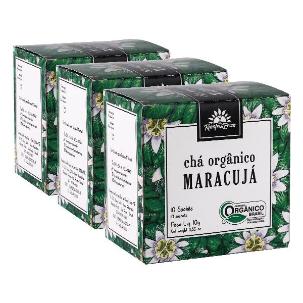 Maracujá Chá PURO 100% Folhas 30 sachês Orgânico e Certific