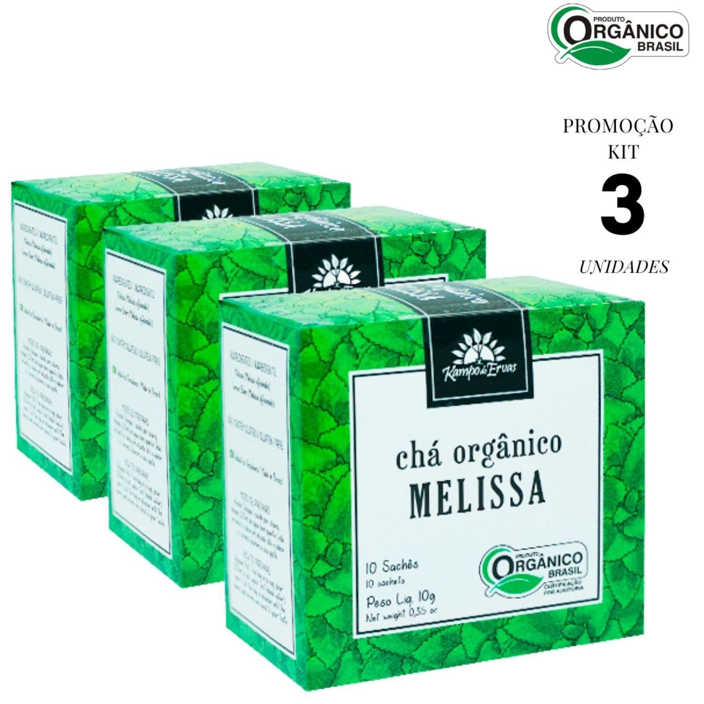 Melissa Chá Orgânico e Certificado Kampo de Ervas 30 sachês