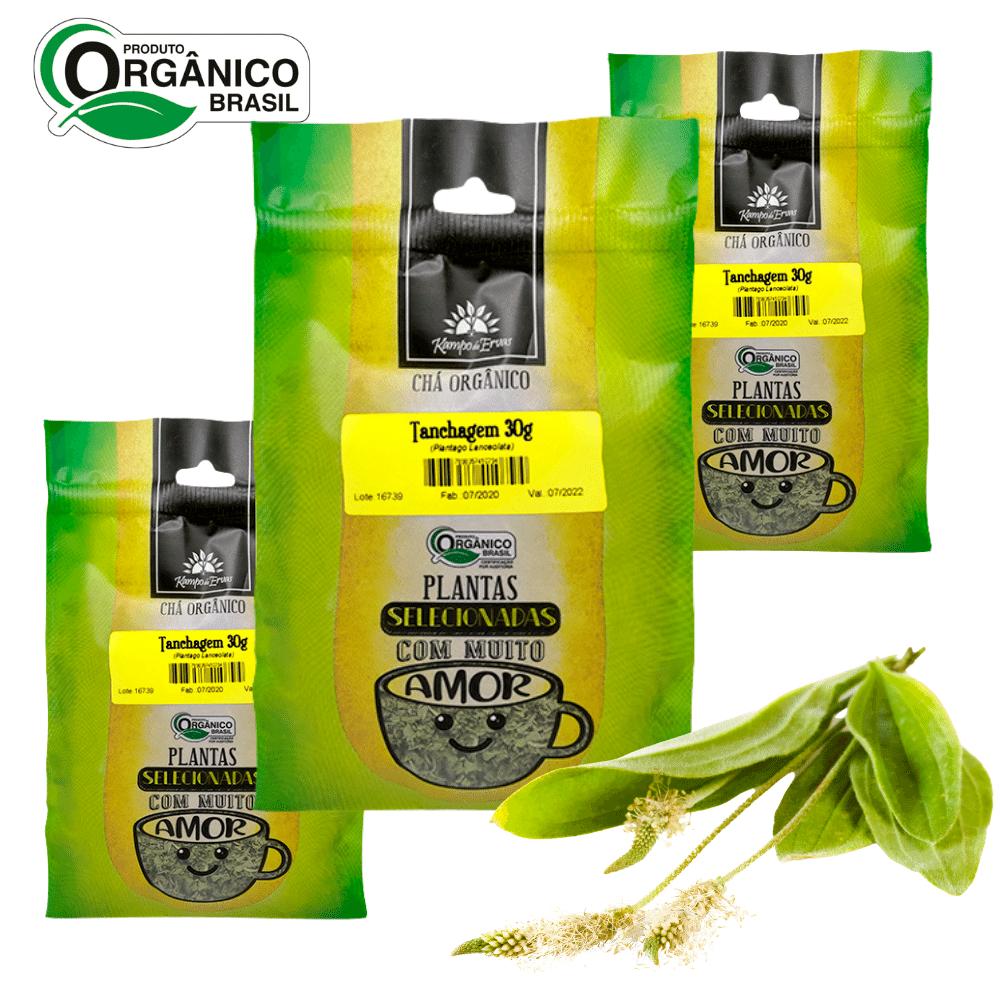 Tanchagem Chá Orgânico 100% Folha Kampo Ervas 3und 30g cada