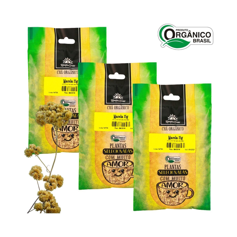 Macela Chá Orgânico Certif 100 % Flores 3 und 15g cada Kampo